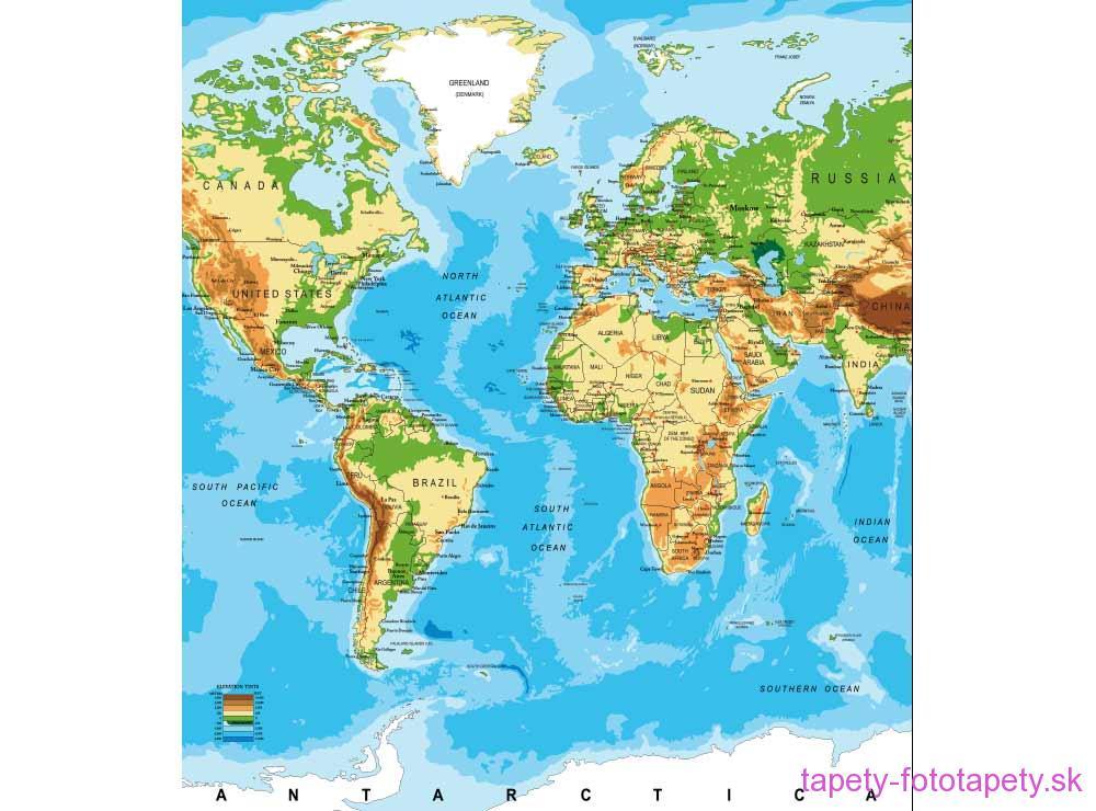 Dimex Fototapeta Mapa Sveta Ms 3 0261 225 X 250 Cm Tapety Na