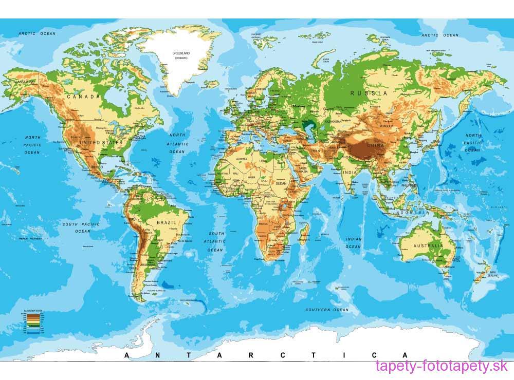 Dimex Fototapeta Mapa Sveta Ms 5 0261 375 X 250 Cm Tapety Na