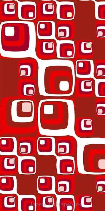 Samolepiace fototapety Dimex Red Squares 95 x 210 cm D042