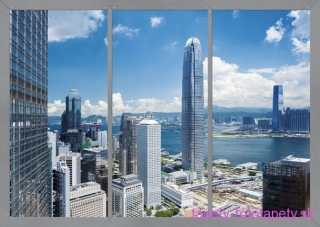 AG Design fototapeta FTS 1318 Window to the city 360 x 254 cm