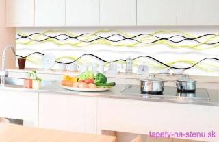 Fototapeta Dimex Yellow Waves KI350-100 | 350 x 60 cm