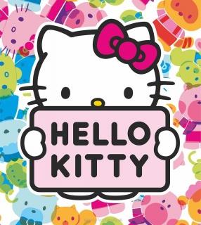 Fototapeta AG Design Hello Kitty FTL1641 | 180 x 202 cm